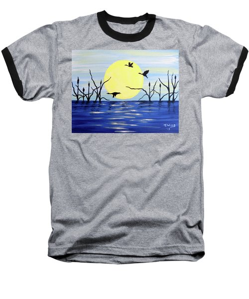 Morning Geese Baseball T-Shirt