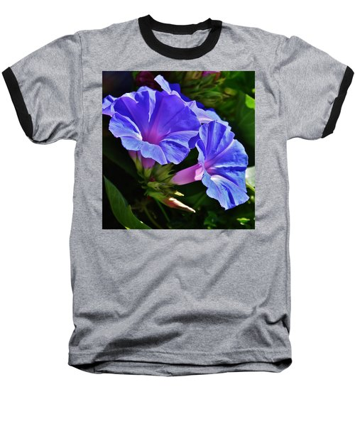 Morning Glory Flower Baseball T-Shirt