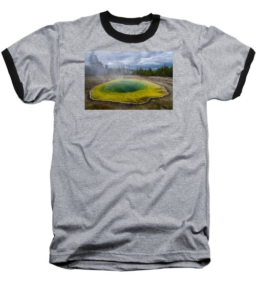 Baseball T-Shirt featuring the photograph Morning Glory Pool by Gary Lengyel
