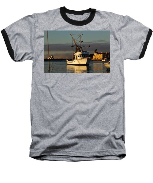 Morning Harbor Light Baseball T-Shirt
