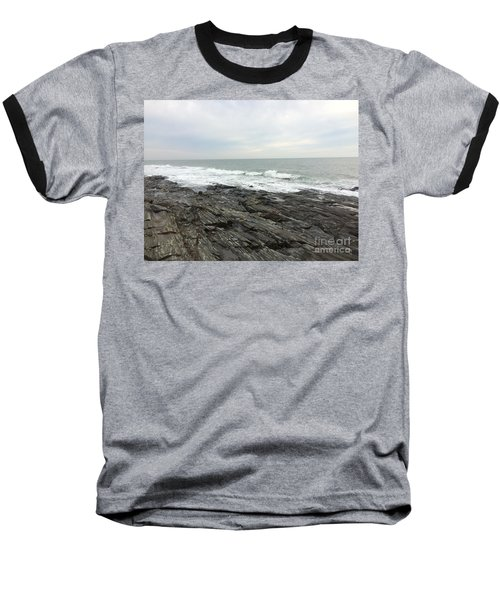 Morning Horizon On The Atlantic Ocean Baseball T-Shirt by Patricia E Sundik