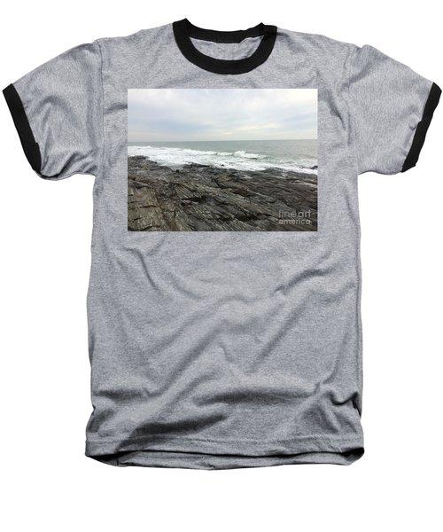 Morning Horizon On The Atlantic Ocean Baseball T-Shirt