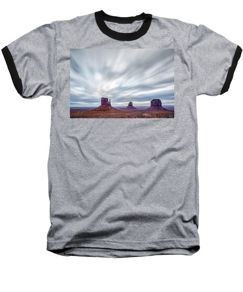 Baseball T-Shirt featuring the photograph Morning In Monument Valley by Jon Glaser