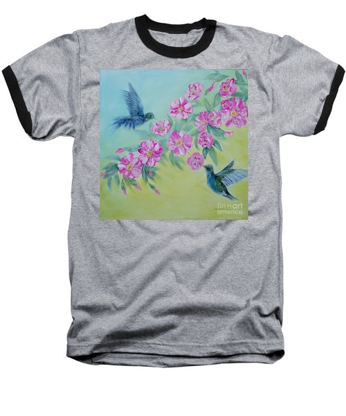 Morning In My Garden. Special Collection For Your Home Baseball T-Shirt by Oksana Semenchenko