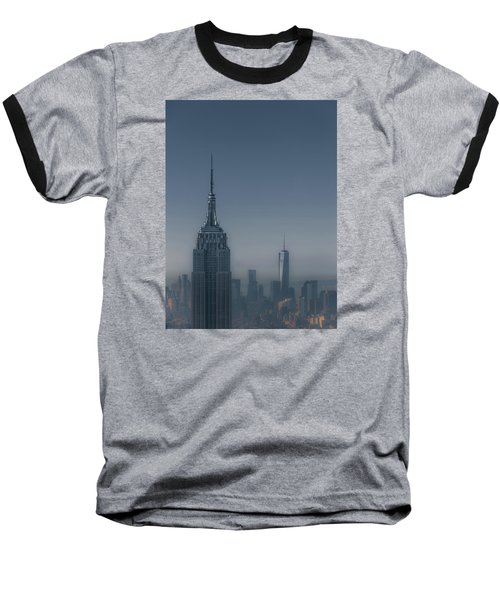 Morning In New York Baseball T-Shirt by Chris Fletcher