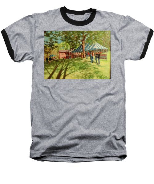 Morning In Ringgold Baseball T-Shirt by Janet McGrath