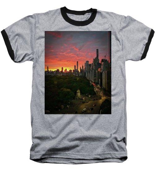 Morning In The City Baseball T-Shirt