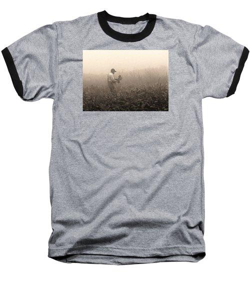 Morning In The Fields Baseball T-Shirt by Stephen Flint