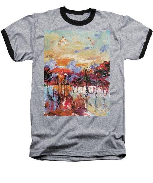 Morning In The Garden Baseball T-Shirt by Kovacs Anna Brigitta