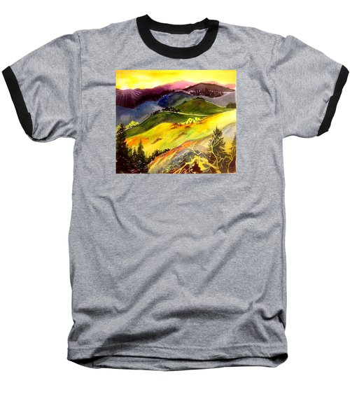 Morning In The Hills Baseball T-Shirt