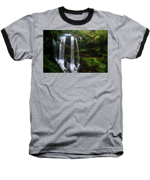 Baseball T-Shirt featuring the photograph Morning In The Mist by Allen Carroll