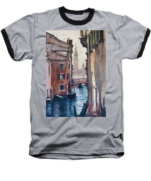 Baseball T-Shirt featuring the painting Morning In Venice by Geni Gorani