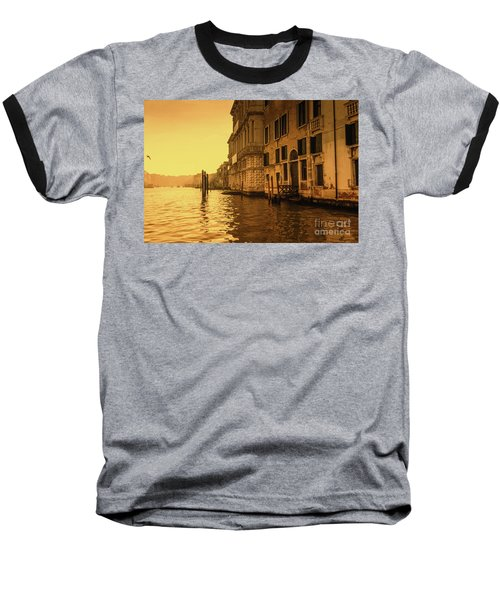 Morning In Venice Sepia Baseball T-Shirt