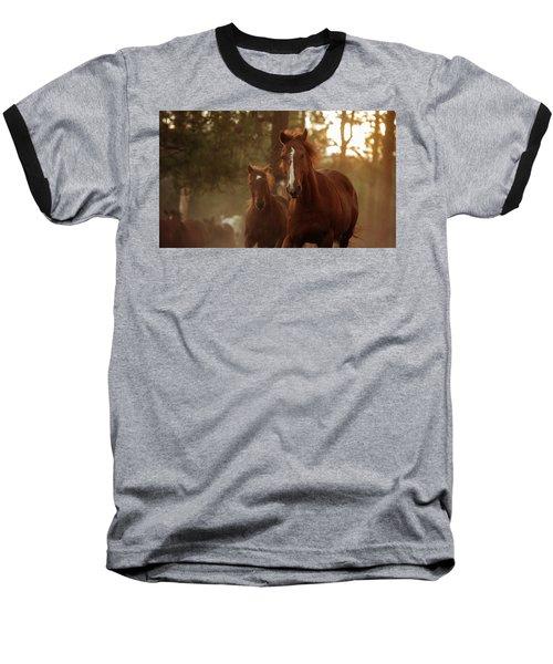 Morning Jog - Three Bars Ranch Baseball T-Shirt