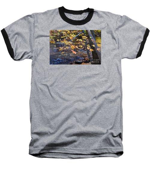 Morning Leaves Falls Park Pendleton Baseball T-Shirt