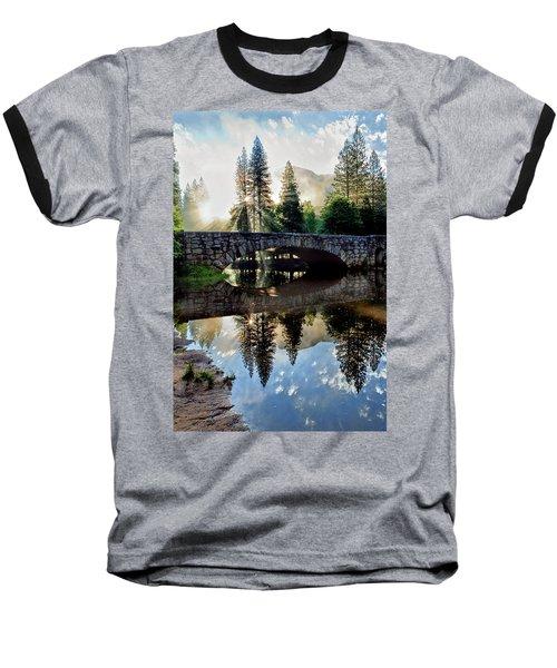 Morning Light Along The Merced River Baseball T-Shirt