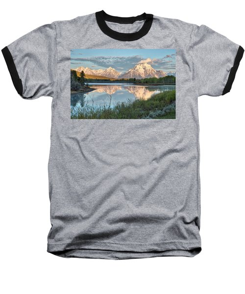 Morning Light At Oxbow Bend Baseball T-Shirt