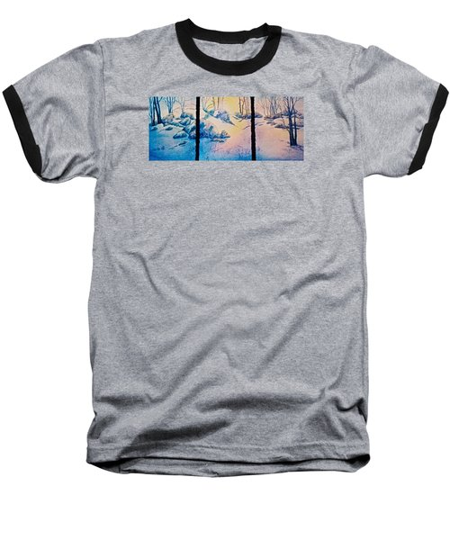 Baseball T-Shirt featuring the painting Morning Light by Carolyn Rosenberger