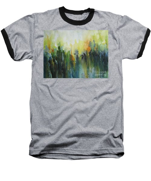 Baseball T-Shirt featuring the painting Morning Light by Elena Oleniuc