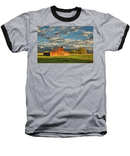 Morning Light On Moulton Barn #2 Baseball T-Shirt