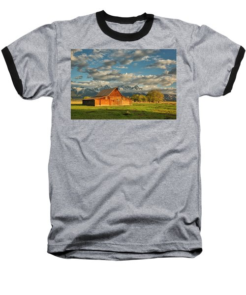 Morning Light On Moulton Barn #2 Baseball T-Shirt