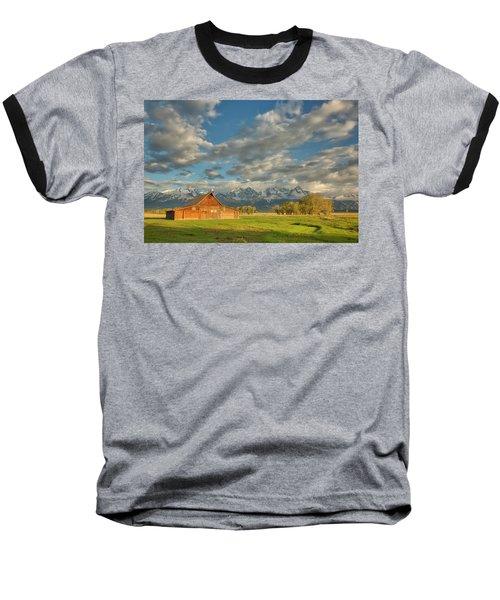 Morning Light On Moulton Barn Baseball T-Shirt
