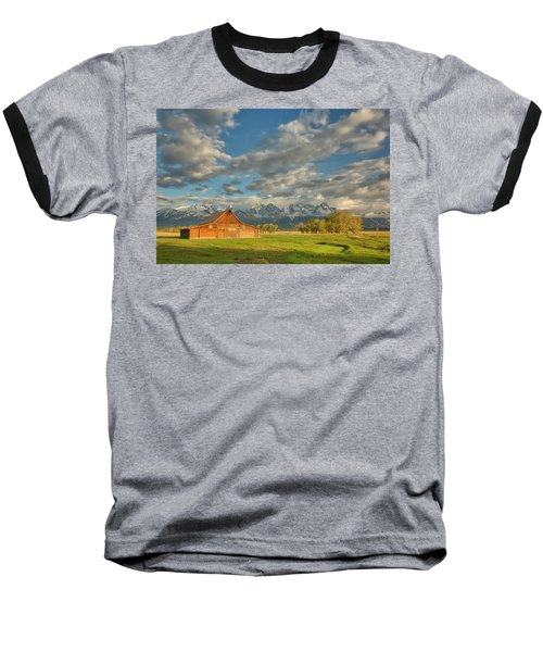 Morning Light On Moulton Barn Baseball T-Shirt