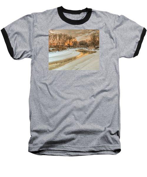 Morning Light On The Riverbank Baseball T-Shirt