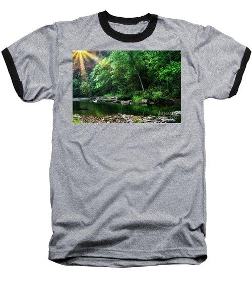 Morning Light On Williams River  Baseball T-Shirt