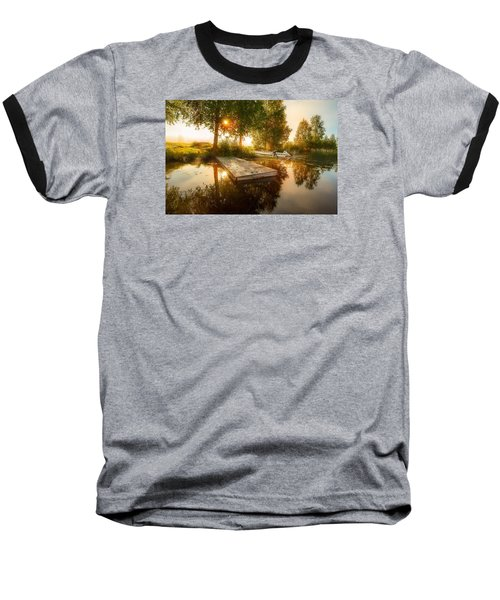 Baseball T-Shirt featuring the photograph Morning Light by Rose-Maries Pictures