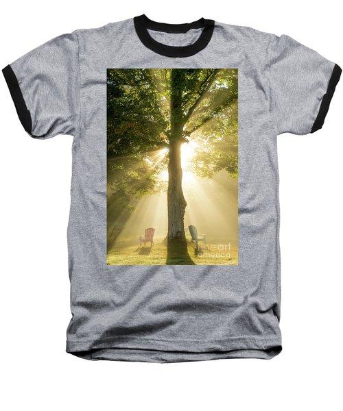 Morning Light Shining Down Baseball T-Shirt by Alana Ranney