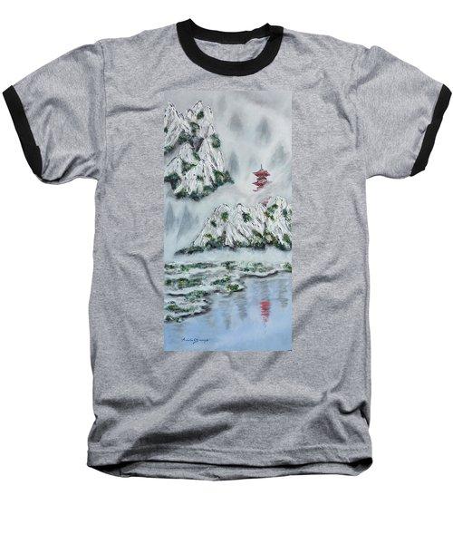 Morning Mist 1 Baseball T-Shirt