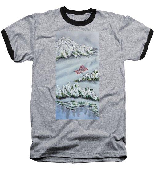 Morning Mist 3 Baseball T-Shirt