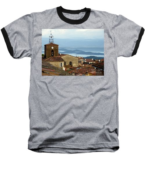 Baseball T-Shirt featuring the photograph Morning Mist In Provence by Lainie Wrightson