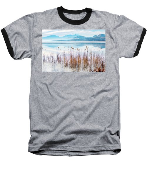 Morning Mist On The Lake Baseball T-Shirt
