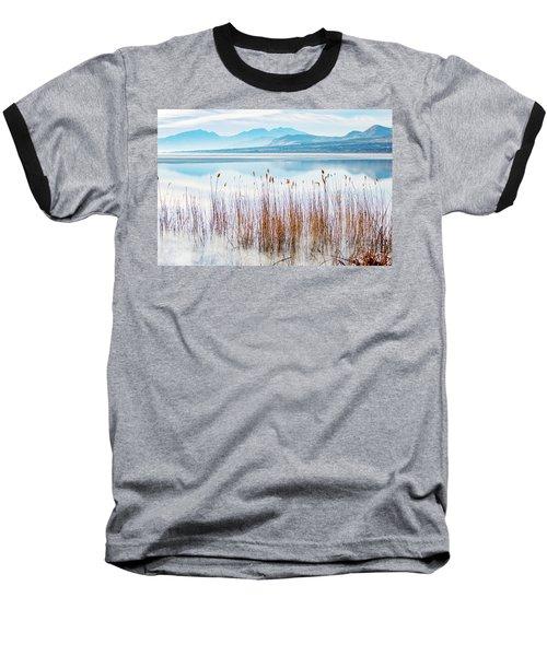 Morning Mist On The Lake Baseball T-Shirt