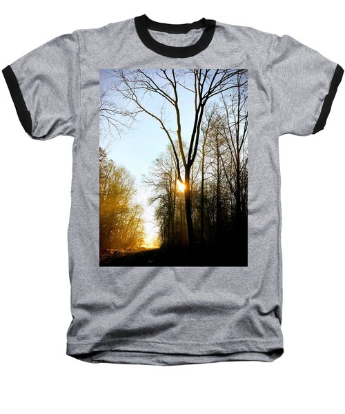 Morning Mood In The Forest Baseball T-Shirt