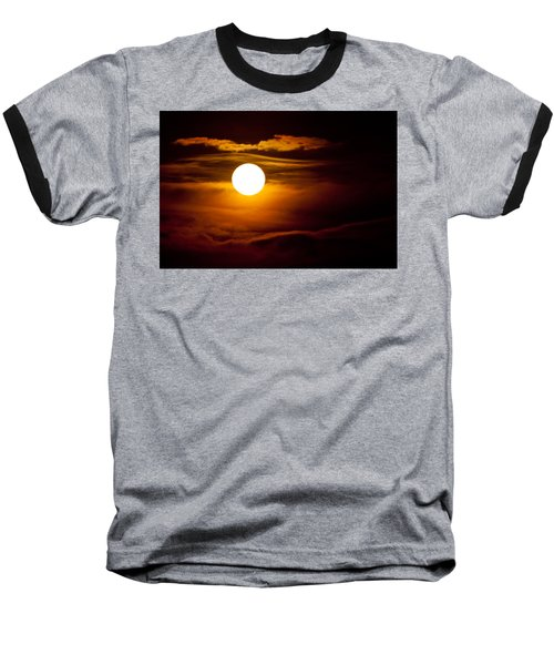 Morning Moonset Baseball T-Shirt