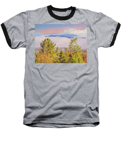 Morning Mountain View Northern New Hampshire. Baseball T-Shirt