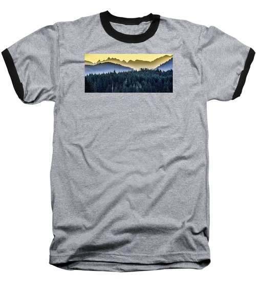 Morning Mountains Baseball T-Shirt