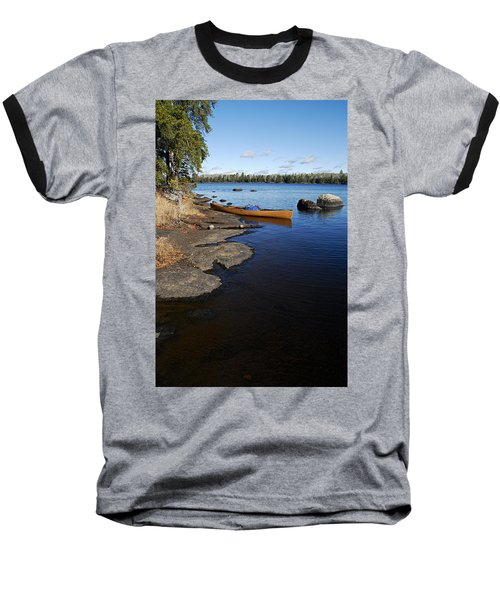 Morning On Hope Lake Baseball T-Shirt