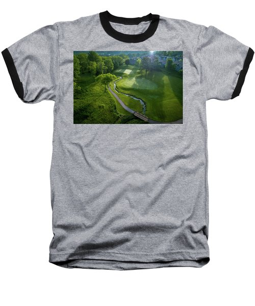 Morning On The 9th Baseball T-Shirt