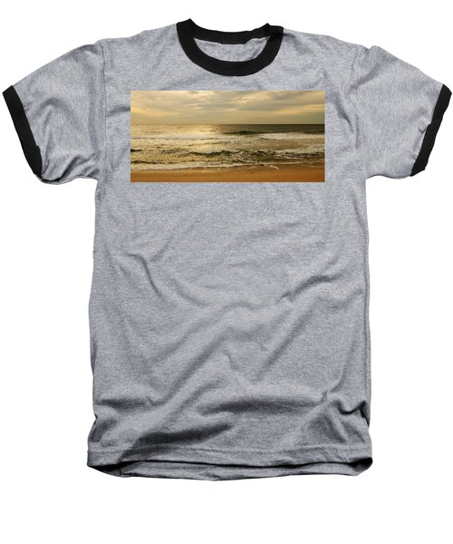 Morning On The Beach - Jersey Shore Baseball T-Shirt