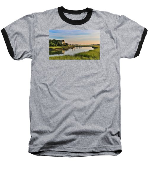 Morning On The Creek - Wild Dunes Baseball T-Shirt
