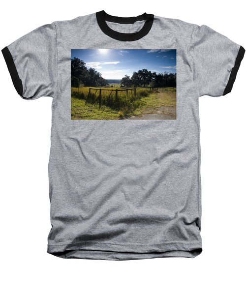 Morning On The Farm Baseball T-Shirt