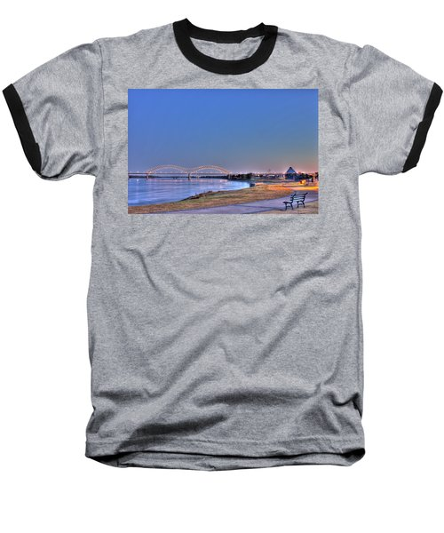 Morning On The Mississippi Baseball T-Shirt