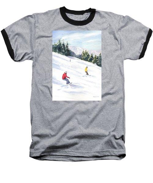Morning On The Mountain Baseball T-Shirt by Vikki Bouffard
