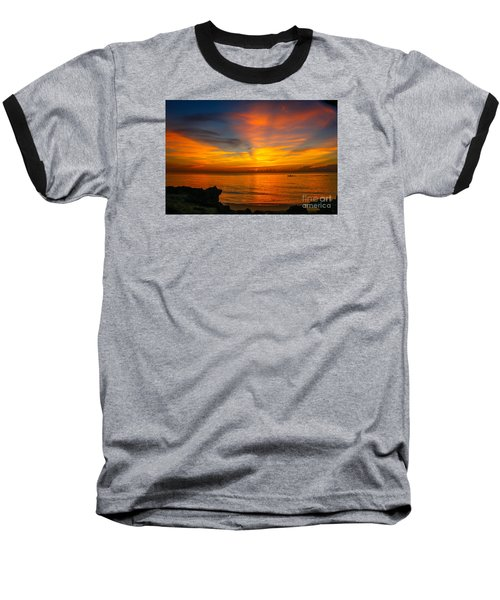 Morning On The Water Baseball T-Shirt by Tom Claud