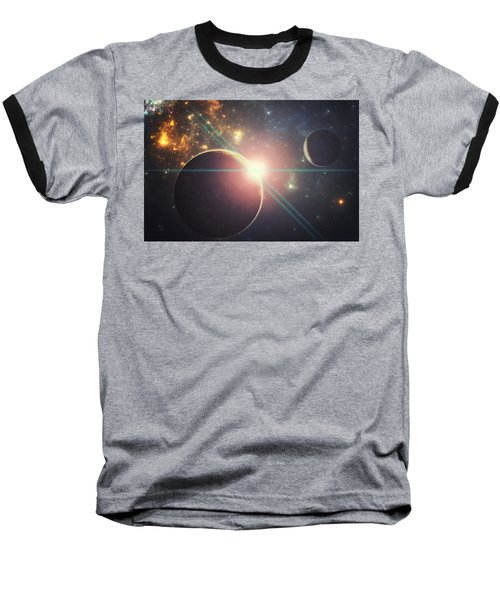 Morning Over The Planet X Baseball T-Shirt