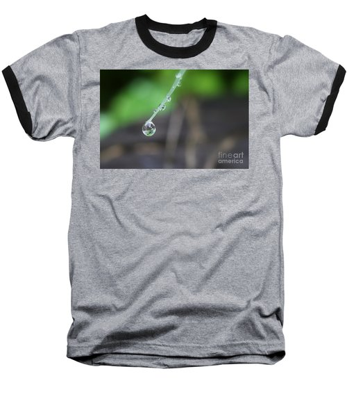 Morning Rain Drops Baseball T-Shirt